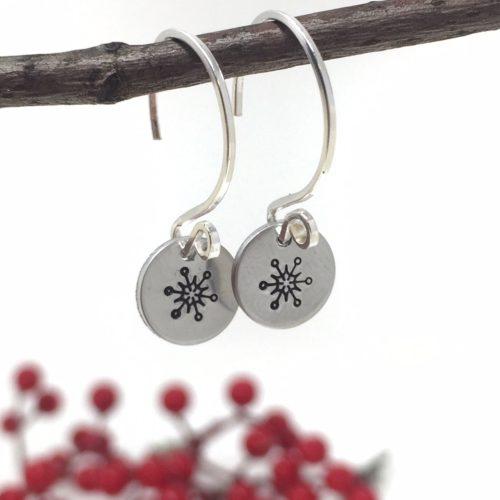 snowflake charm earring